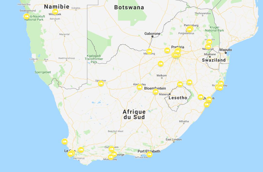 nuits en afrique du sud