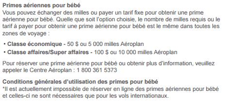 aeroplan bebe