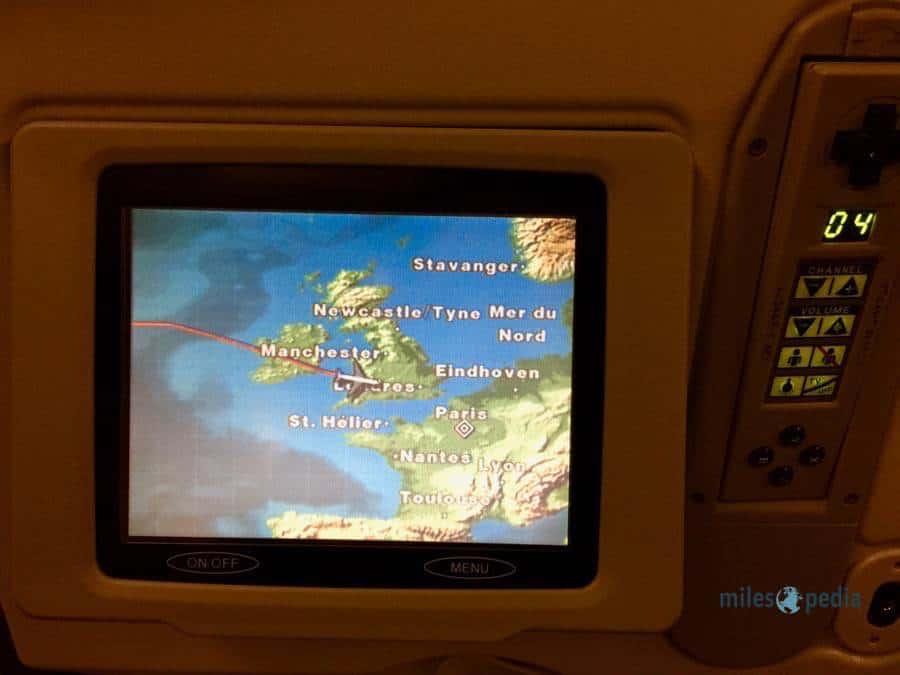 Déjeuner en survolant le Royaume-Uni - Air France AF347