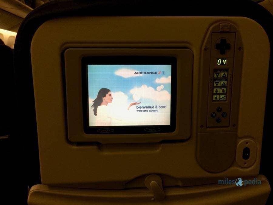 Écran et télecommande - Air France AF347