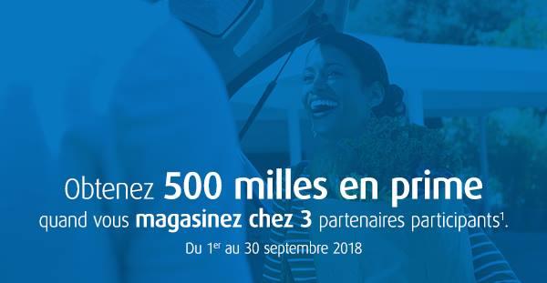 air miles 500 sept 2018