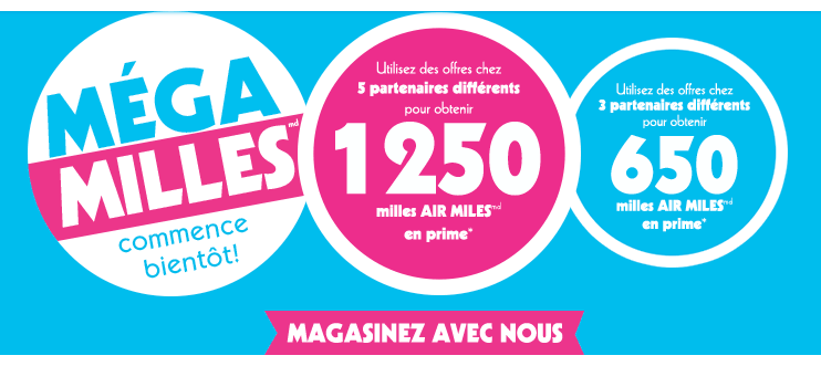 evenement mega milles d'Air Miles