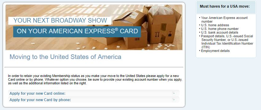 amex global transfer requis