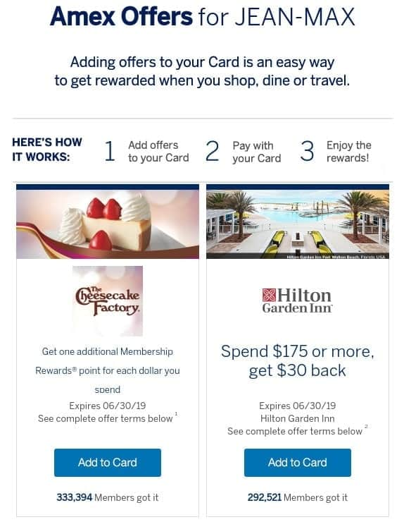 amex offers usa example