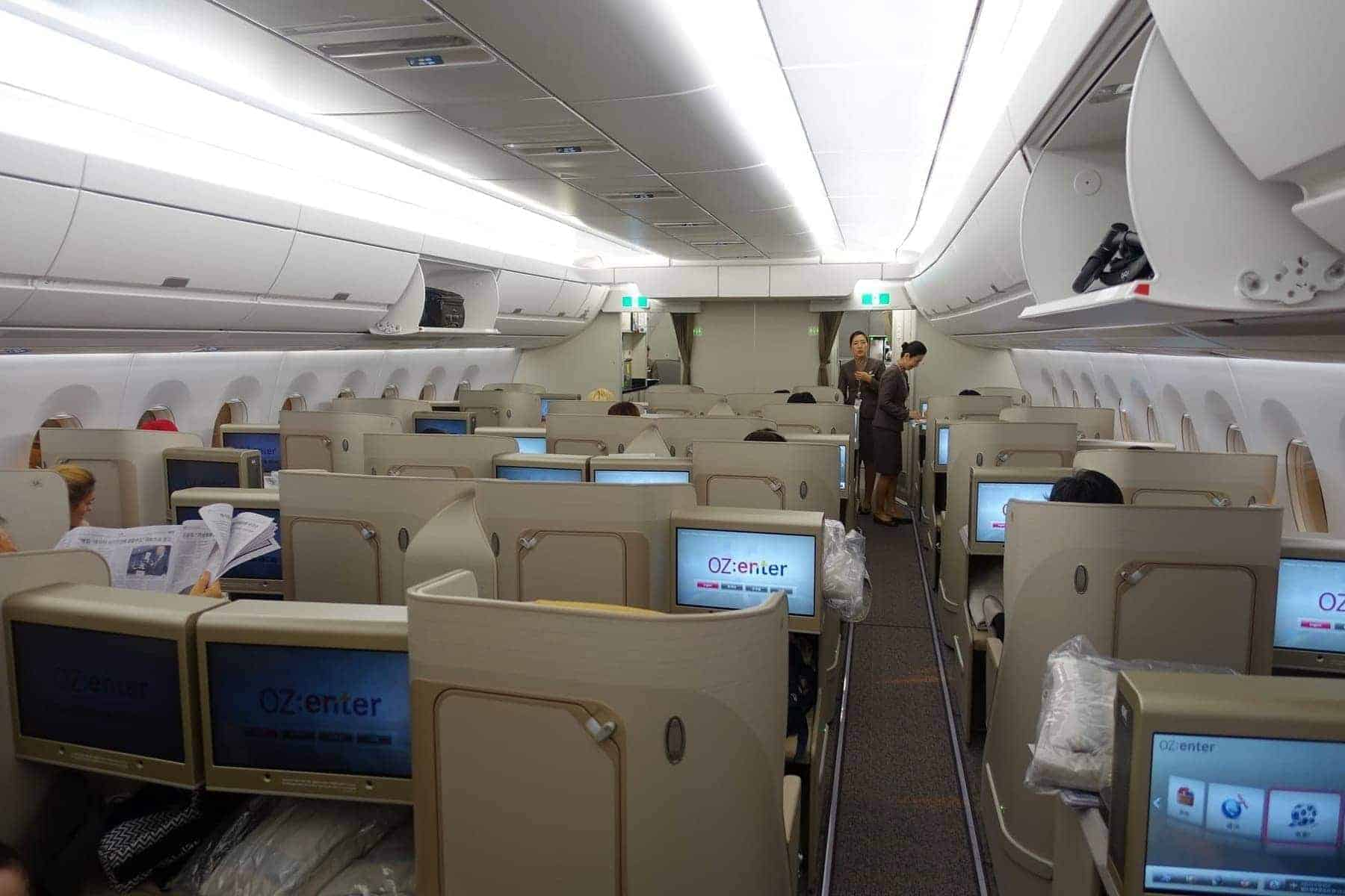asiana airlines a350 business class icn sfo 37