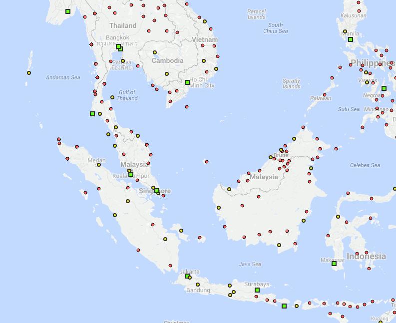 asie sud est flight connections