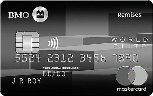 bmo cash back world elite mastercard fr