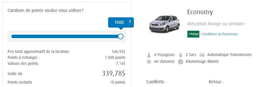 bmo recompenses voiture