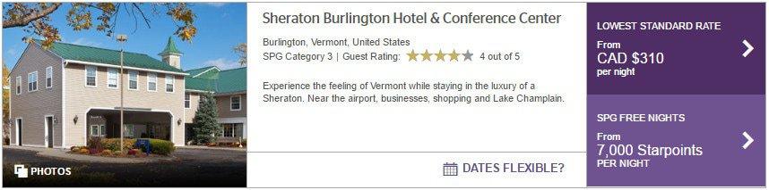 burlington sheraton