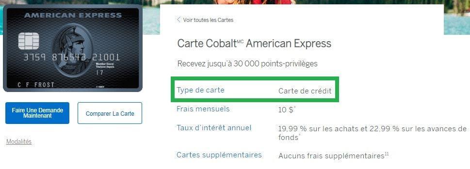 carte cobalt credit