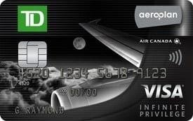 carte visa infinite privilege td aeroplan