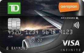 carte visa infinite td aeroplan logo