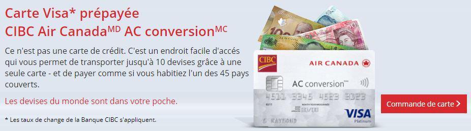 cibc conversion carte souscrire