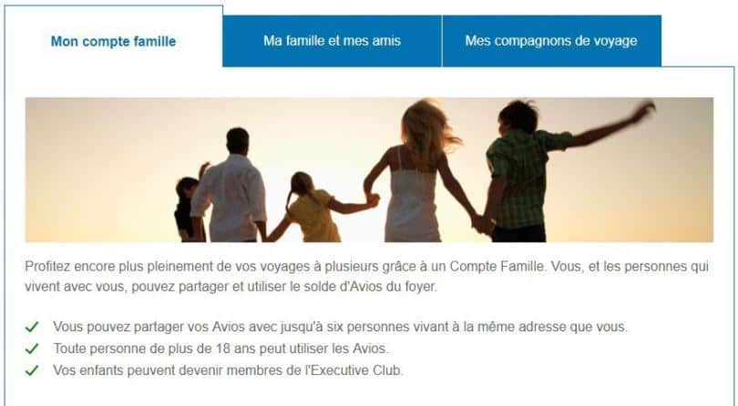compte famille british airways executive club famille