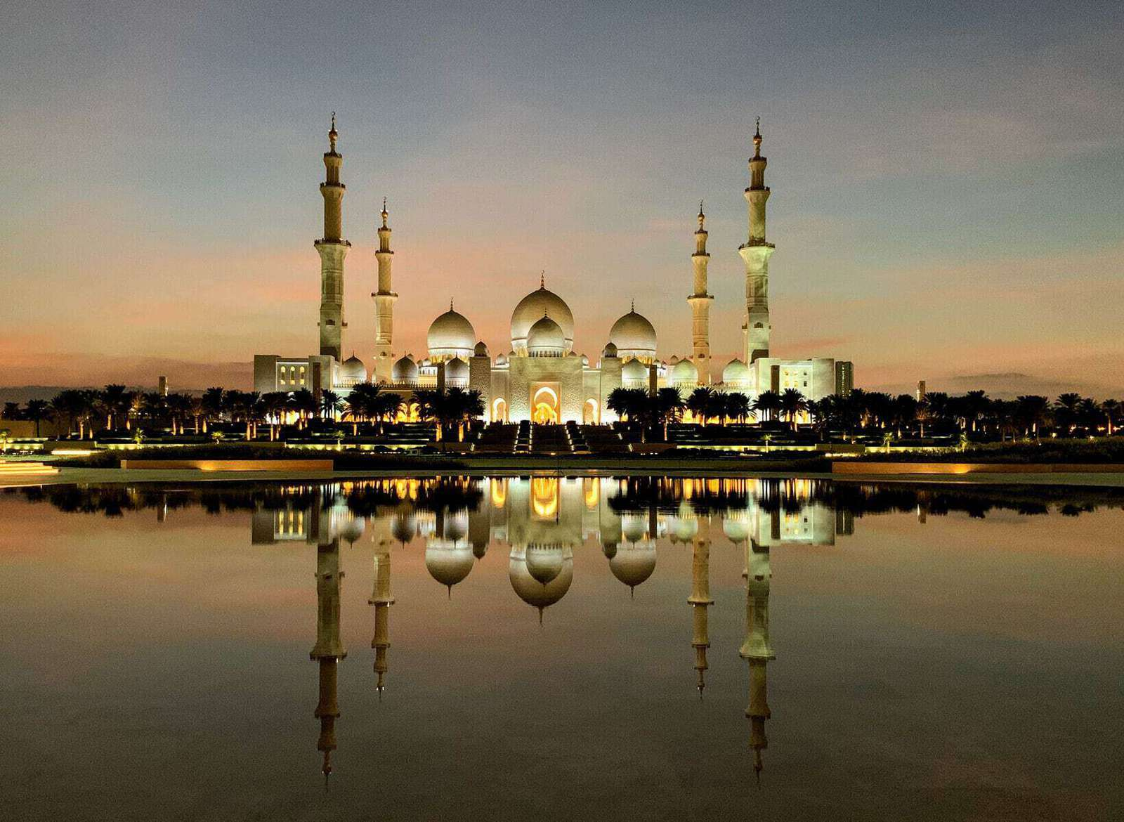 sunset on the mosque2