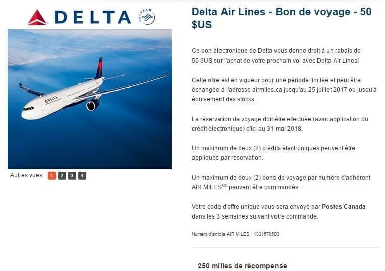 coupon air miles delta 1