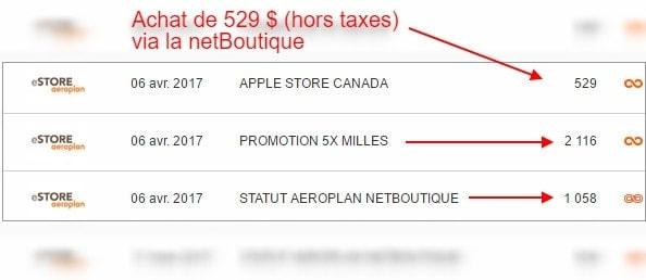 detail transaction statut aeroplan 1