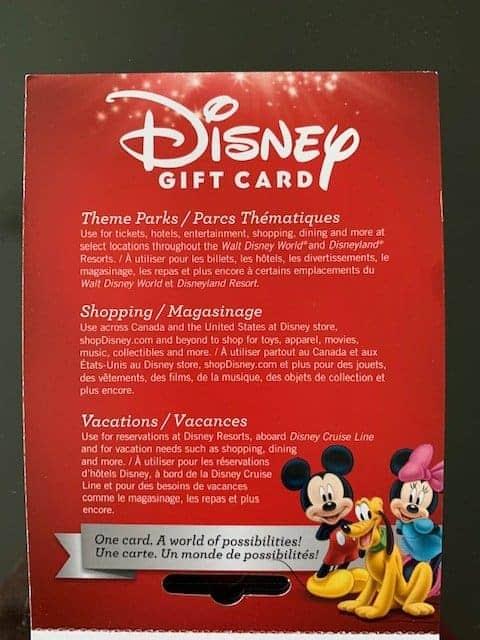 disney gift card 2