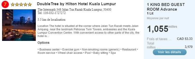 double tree by hilton hotel kuala lumpur air miles