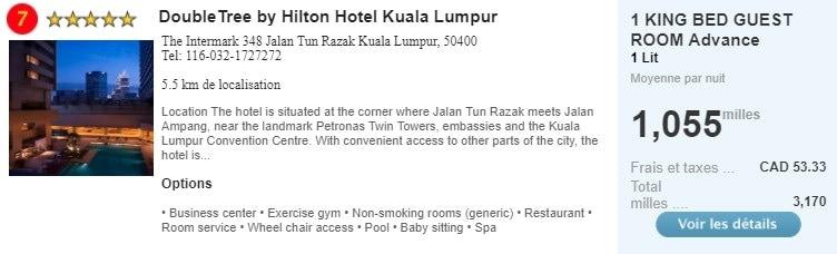 double tree by hilton hotel kuala lumpur air miles