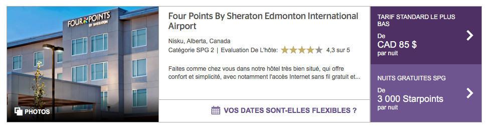 edmonton four points aeroport