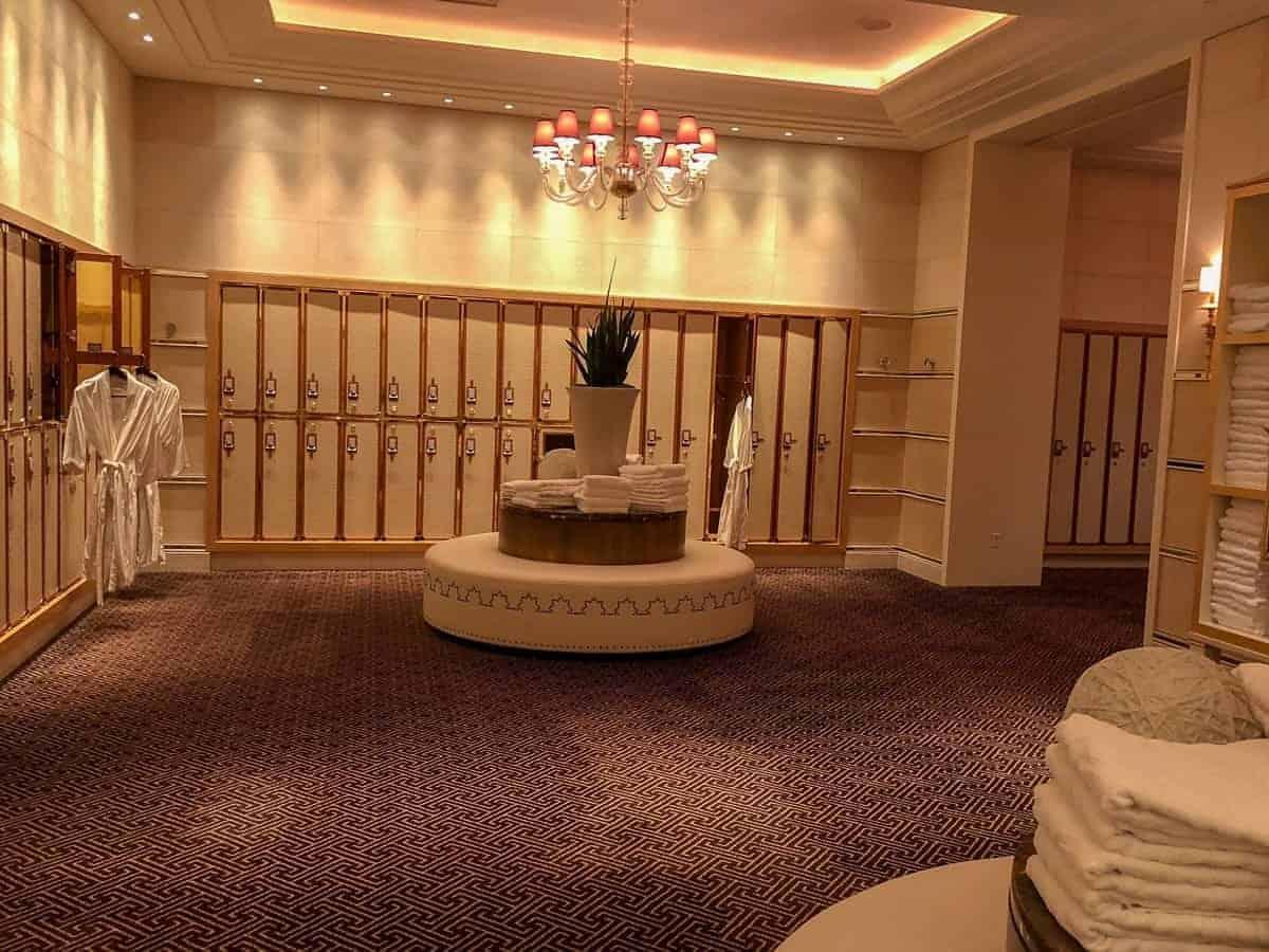 vestiaire spa de l'Hôtel Encore Las Vegas.