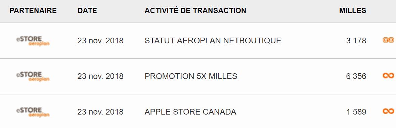 exemple aeroplan apple