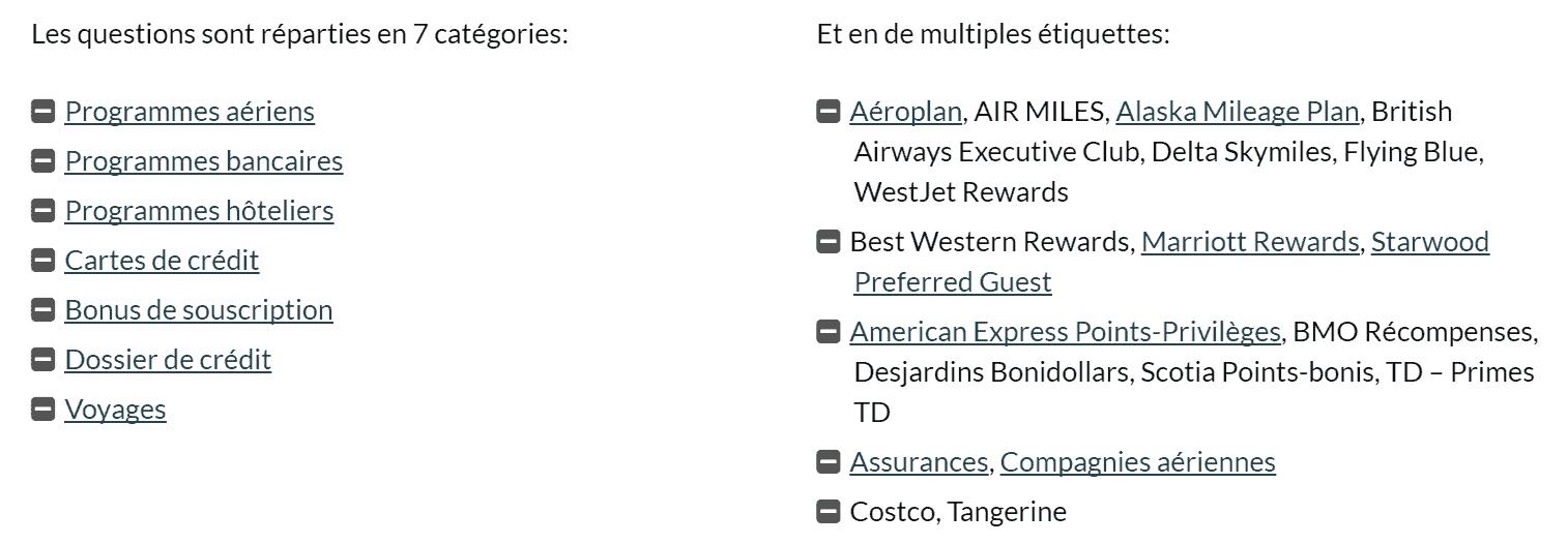 faq milesopedia categories