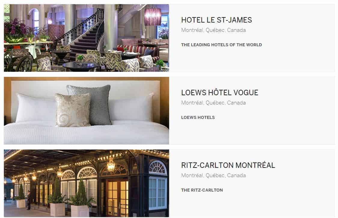 fine hotels and resorts montreal