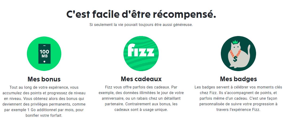 fizz programme recompenses 3