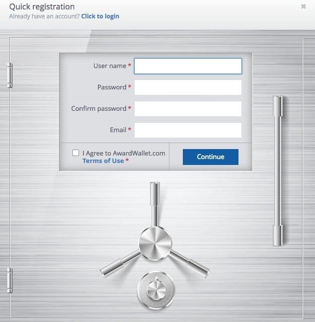 formulaire inscription a awardwallet
