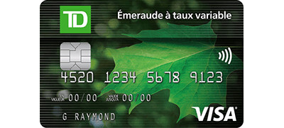 TD Emerald Flex Rate Visa* Card