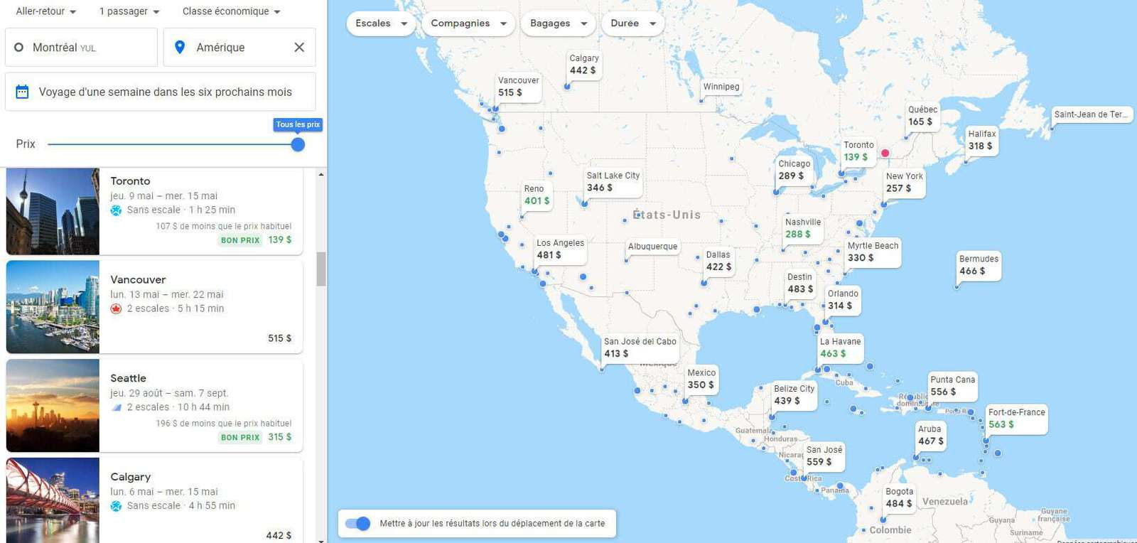 google flights 6 mois ameriques 1