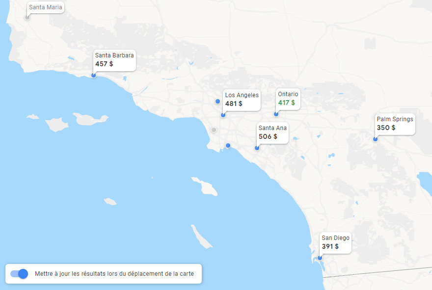 google flights carte