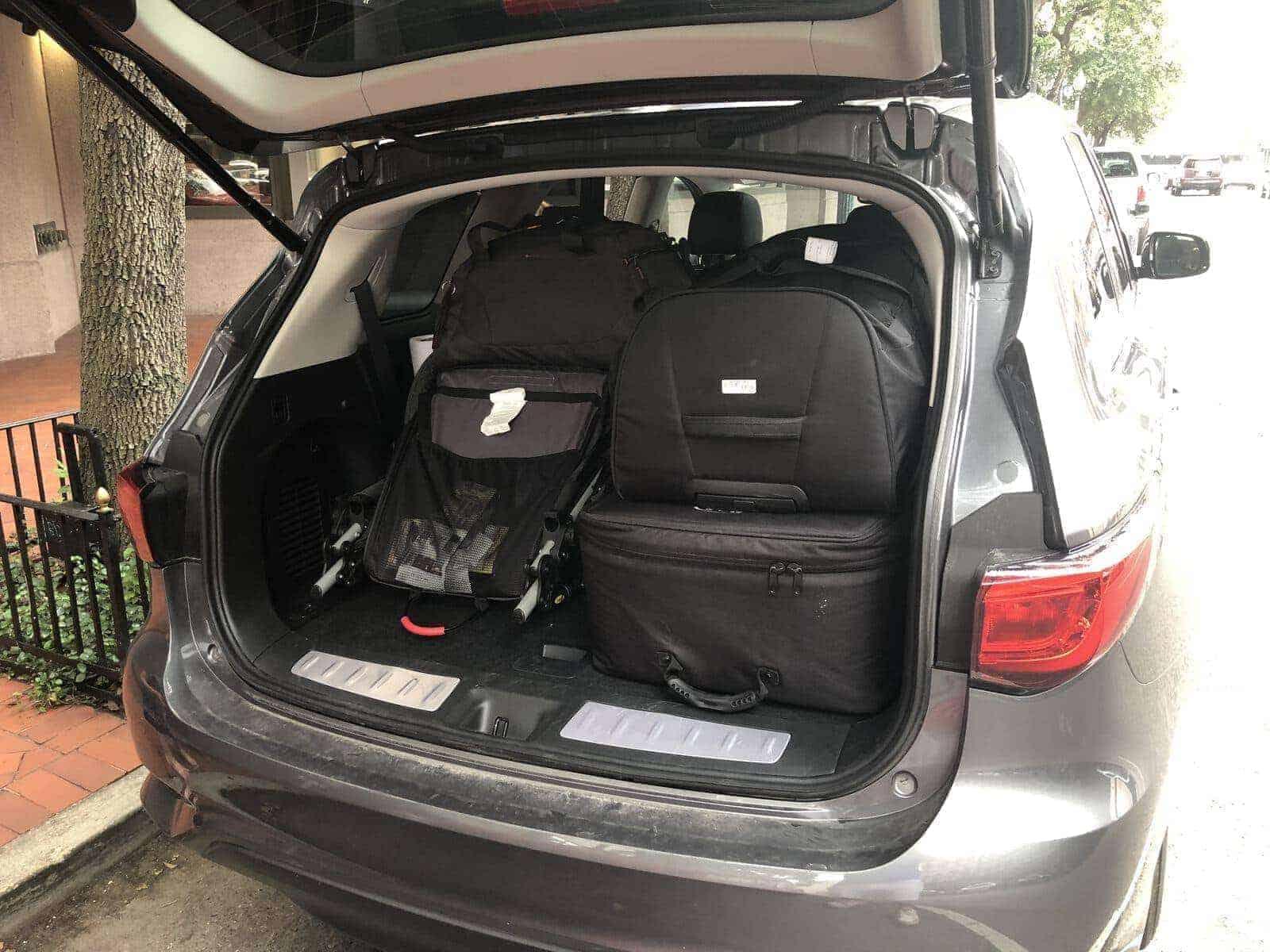 infiniti qx60 bagages