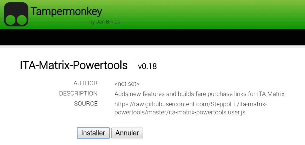 ita tampermonkey script install