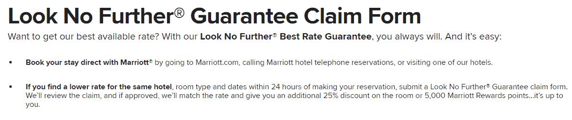 marriott look no further 5000 points