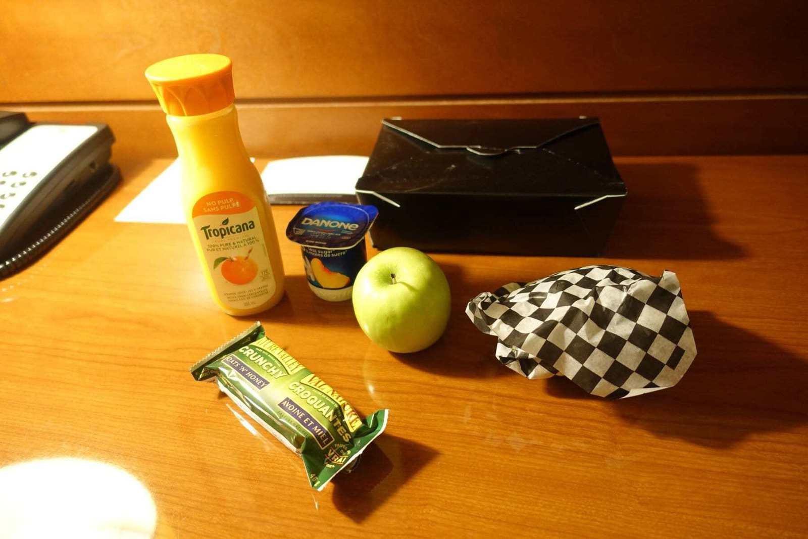 marriott terminal aeroport montreal yul petit déjeuner