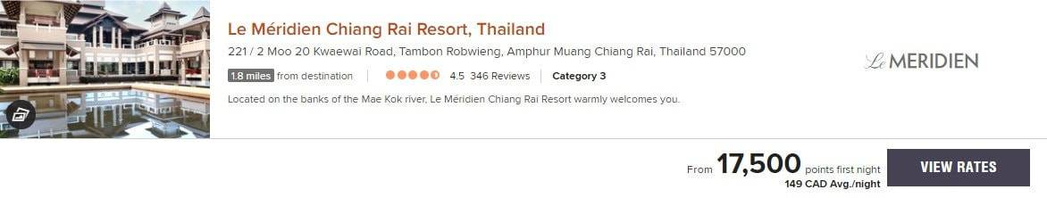 meridien chiang rai resort marriott bonvoy