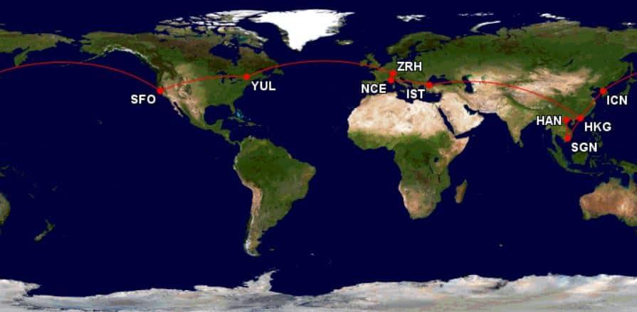 mini tour du monde aeroplan 2017