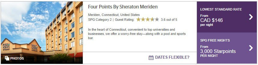 new haven meridien four points