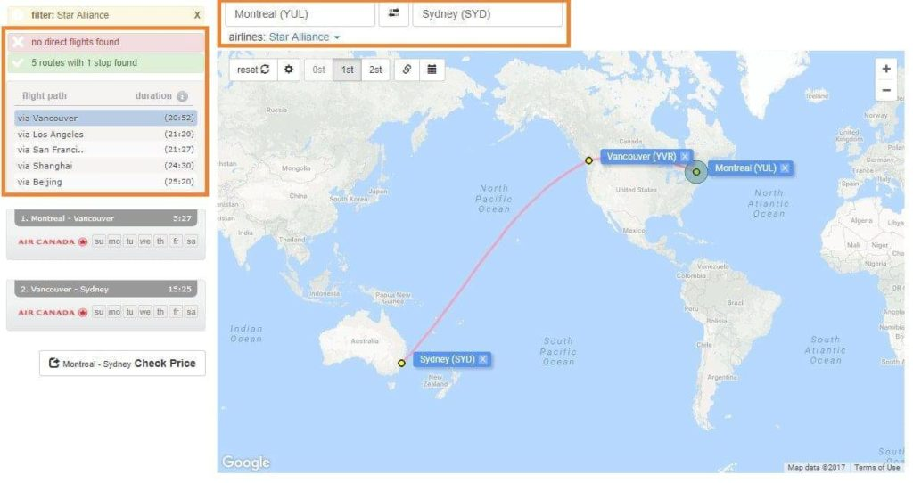 one stop aeroplan australie