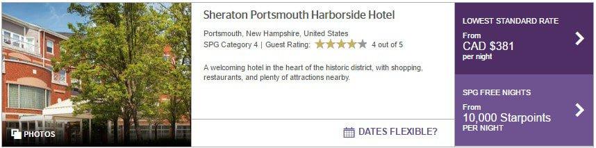 portsmouth sheraton