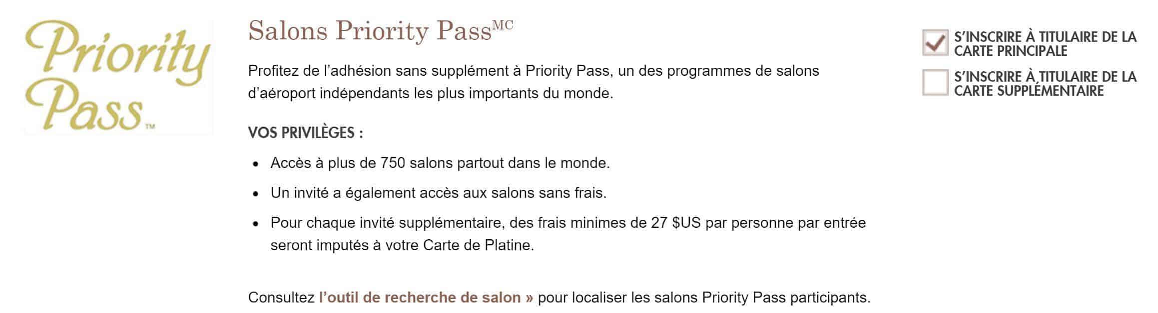 priority pass platine