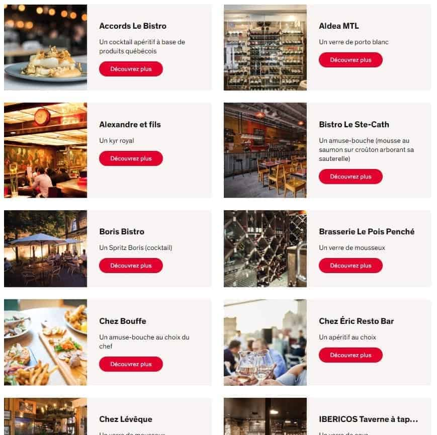 restaurants mtlatable aeroplan