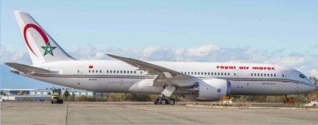 royal air maroc receptionne son 5eme b 787 dreamliner