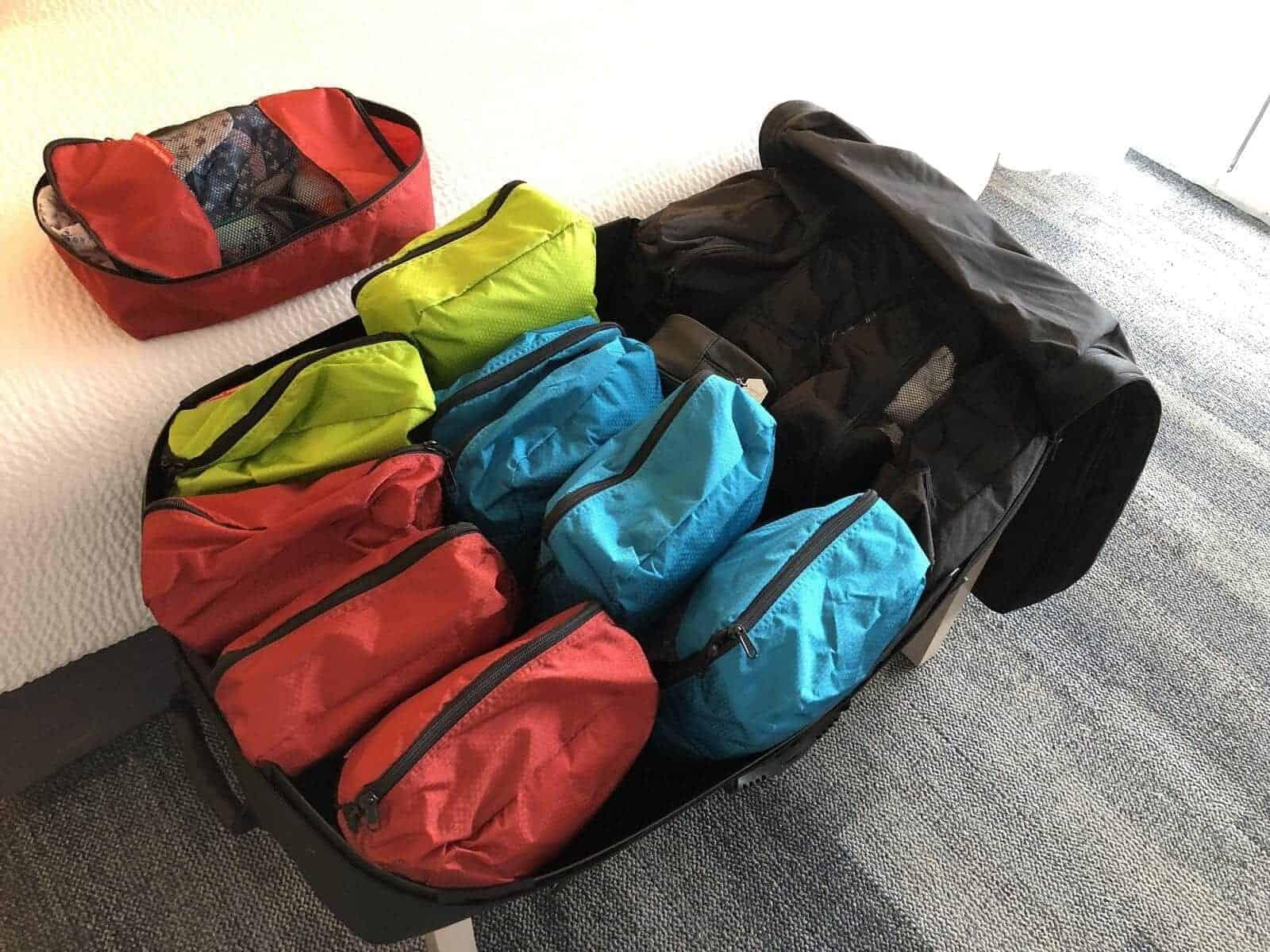 sac compartimentes voyages
