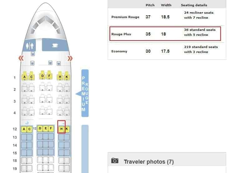 seatguru 767 air canada rouge