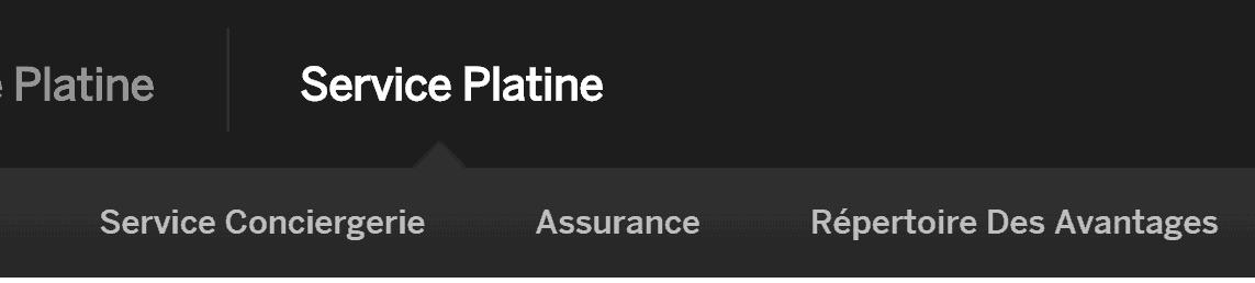 service platine