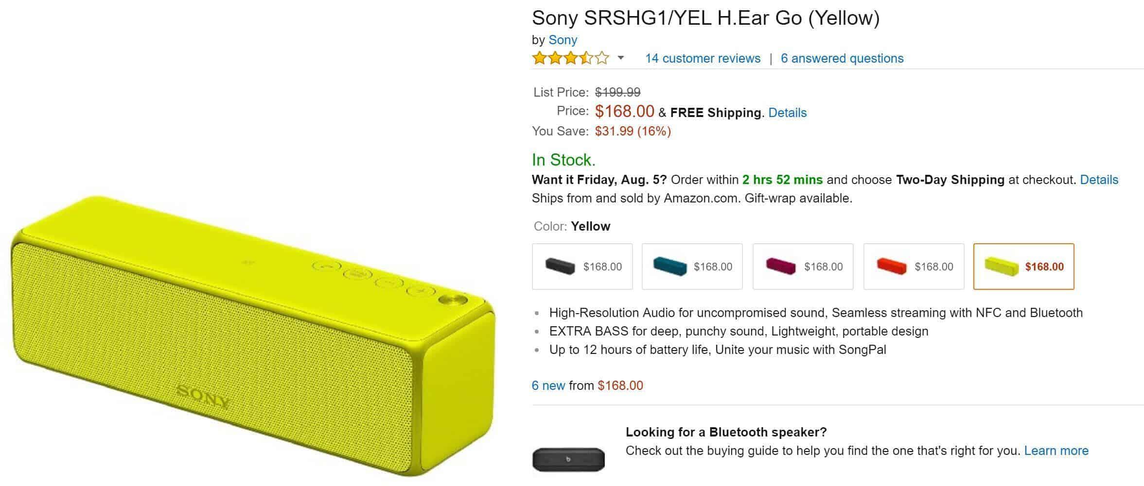 Haut-Parleur Sony sur Amazon.com